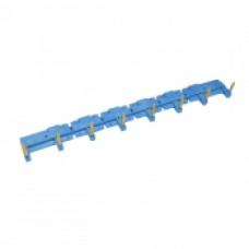 8-полюсный шинный соединитель для розеток 95.63, 95.65, 95.75, 95.83.1, 95.85.1; синий