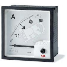 Амперметр пост.тока без шкалы AMT2-A2/96,вкл. через шунт 60 мВ