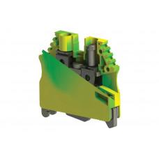 AVK 6 TK; Клеммник на DIN-рейку 6 мм.кв., (земля)