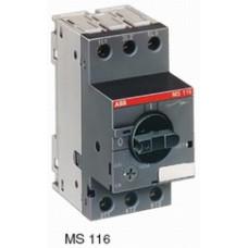Автоматический выключатель MS116-0.16 50 кА с регулир. тепловой защитой 0,10A-0,16А Класс тепл. расцепит. 10
