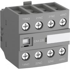 Блок контактный дополнительный CA4-22E (2НО+2НЗ) для контакторов AF26…AF96..-30-00 и AF09…AF38..-22-00
