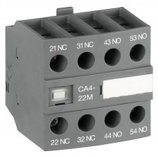 Блок контактный дополнительный CA4-22U (2НО+2НЗ) для контакторов AF09…AF16..-30-01