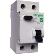 Дифференциальный автоматический выключатель EASY 9 1П+Н 25А 30мА C AC 4,5кА 230В =S=