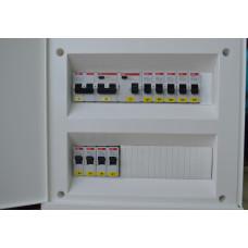 Электрощит для двухкомнатной квартиры. Ввод ~220В. ABB