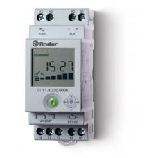 Фотореле модульное с фотоэлементом 011.02; цифровое реле времени; монтаж на рейку 35мм; 1СO 16A + 1доп.выход (для 19.91); питание 230В АC; настройка чувствит. 1…150люкс;