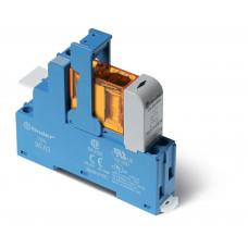 Интерфейсный модуль, электромеханическое реле; 1CO 10A;  питание 24В DC (чувствит.);  LED + диод