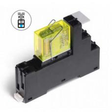 Интерфейсный модуль, электромеханическое реле безопасности; 2CO 8A;  питание 24В DC;  LED + диод