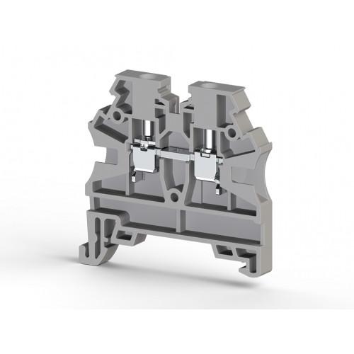 Клеммник на DIN-рейку 2,5мм.кв. (серый); AVK2,5 RD 304200