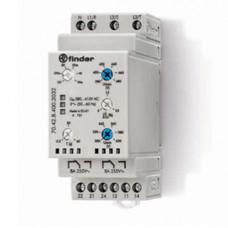Контрольное реле для 3-фазных сетей; пониженное/повышенное напряжение, обрыв/чередование/асимметрия фаз, контроль нейтрали,  выход 1CO 6А;