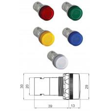 Лампа CL2-501L синяя со встроенным светодиодом 12В DC