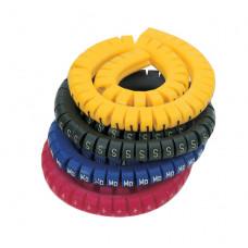 Маркировка кабеля (кольцо) KEB 1 (0,5...1,5 мм.кв.), без надписей, (белый),  (уп. 500 шт.)