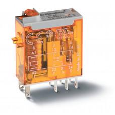 Миниатюрное промышленное электромеханическое реле;  2СO 8A;  катушка 12В АC;опции: кнопка тест + мех.индикатор