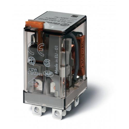 Миниатюрное силовое электромеханическое реле; 2CO 12A;  катушка 6В АC;  опции: кнопка тест + мех.индикатор 563280060040