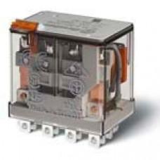 Миниатюрное силовое электромеханическое реле; 4CO 12A;  катушка 24В АC;опции: кнопка тест