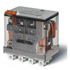 Миниатюрное силовое электромеханическое реле; 4CO 12A;  катушка 24В АC;  опции: кнопка тест + мех.индикатор