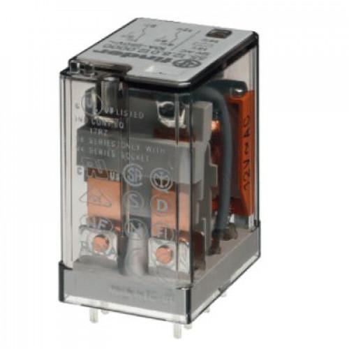Миниатюрное универсальное электромеханическое реле;  2CO 10A;  катушка 12В DC; 551290120000