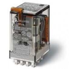 Миниатюрное универсальное электромеханическое реле;  4CO 7A;  катушка 220B DC;опции: кнопка тест + м