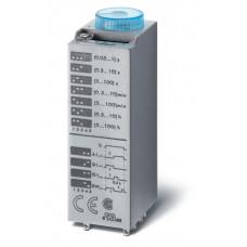 Миниатюрный мультифункциональный таймер (AI, DI, SW, GI);  питание 12В АС/DC; 4CO 7A; регулировка времени 0.05с…100ч;