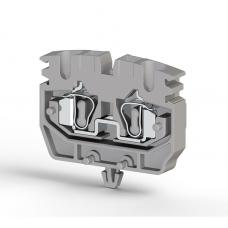 Миниклеммник пружинный на монт.плату, 2,5 мм.кв. (серый); MYSK2,5