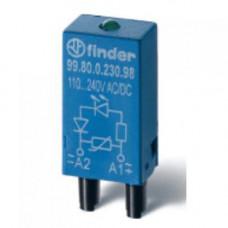 Модуль индикации и защиты; красный LED; 110...240В AC/DC