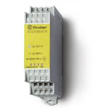 Модульное электромеханическое реле безопасности (реле с принудительным управлением контактами); 1NO+1NC 6A; катушка 24В DC;