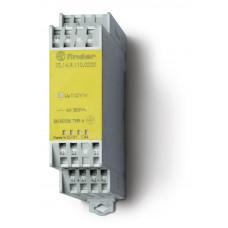 Модульное электромеханическое реле безопасности (реле с принудительным управлением контактами); 3NO+1NC 6A;  катушка 24В DC;