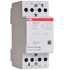 Модульный контактор ESB-24-22 (24А AC1) катушка 12B AC/DC
