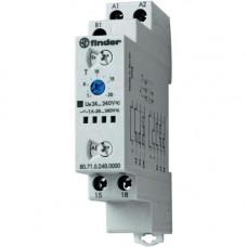 Модульный таймер мультифункциональный (AI, DI, SW, BE, CE, DE); питание 24…240В АС/DC; выход - твердотельное реле 1NO 1A; регулировка времени 0.1с…24ч;