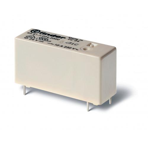Низкопрофильное миниатюрное электромеханическое реле;   1CO 10A; катушка 12В DС (чувствит.); 434170122000