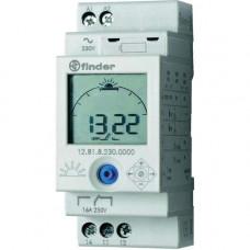 Реле времени цифровое ASTRO; монтаж на рейку 35мм; 1СO 16A; питание 230В АC;
