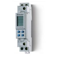Реле времени цифровое недельное; программируется ПК (012.00); монтаж на рейку 35мм; 1СO 16A; питание 230В АC;