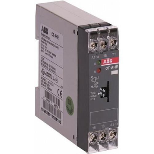 Реле времени CT-AHE (задержка на отключ.) 24В AC/DC (временной диапазон 3..300с.) 1ПК 1SVR550118R2100