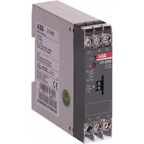 Реле времени CT-ERE (задержка на включ.) 24В AC/DC, 220-240В AC (временной диапазон 0.1..10с.) 1ПК 1SVR550107R1100