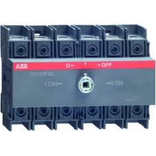 Реверсивный рубильник OT100F3C до 100А 3-полюсный для установки на DIN-рейку или монтажную плату (без ручки)