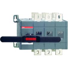 Реверсивный рубильник OT1250E03C до 1250А  3-полюсный (без ручки управления)