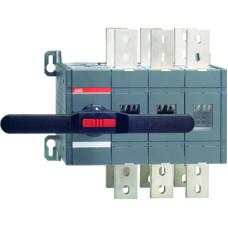 Реверсивный рубильник OT1600E03C до 1600А  3-полюсный (без ручки управления)