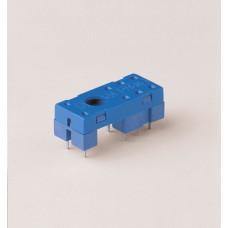 Розетка для монтажа на плате для реле 41.52, 41.61, 41.81; в комплекте пластиковая клипса 095.42; версия: синий цвет