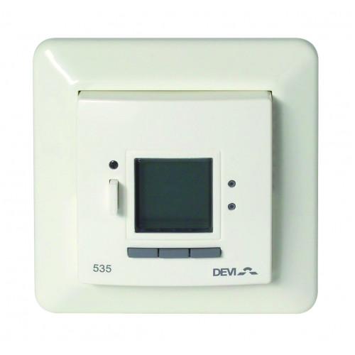 Терморегулятор Devireg D535 скрытого монтажа, белый (с датчиком пола и воздуха)    140F1050  140F1050