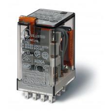 Миниатюрное универсальное электромеханическое реле; 4CO 7A; катушка 125В DC;  опции: кнопка тест + м