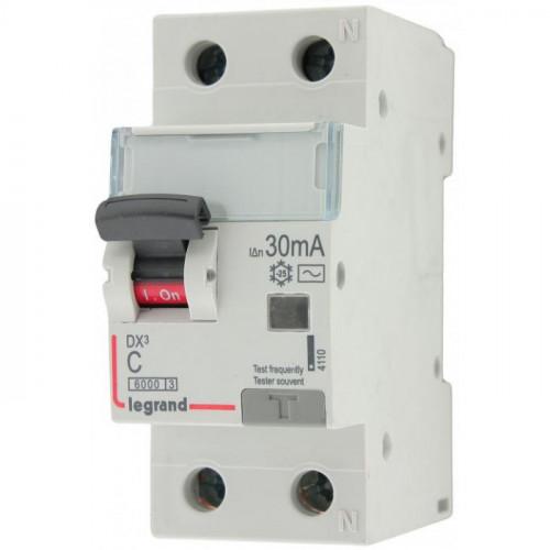 Выключатель автоматический дифференциального тока АВДТ DX3 1п+N 6А 30мА АС 410999