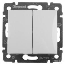 Выключатель Legrand Valena двухклавишный (белый)    774405
